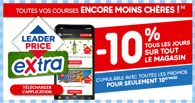 Toutes vos courses ENCORE MOINS CHERES !(3)
