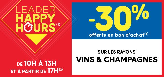 Leader Happy Hours(1) Vins & Champagnes