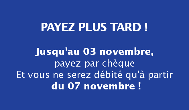 Payez plus tard !