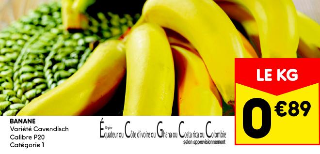 Banane variété cavendisch