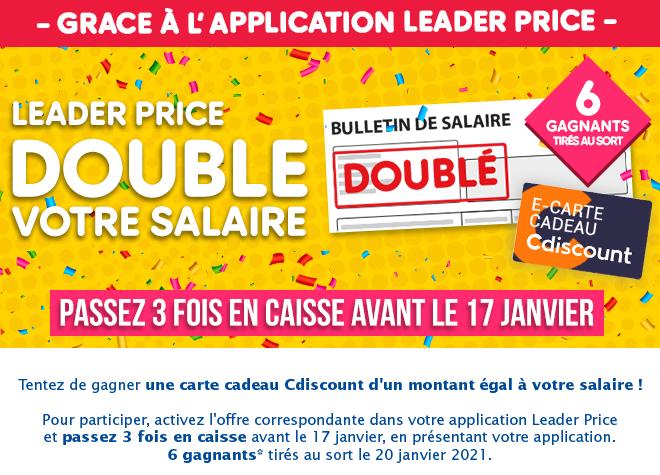 Leader Price double votre salaire